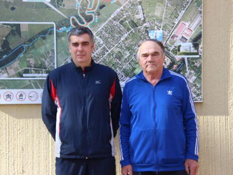 Kaks kaptenit – Igor Šaripov ja Toivo Uusna. Foto Raimo Metsamärt.