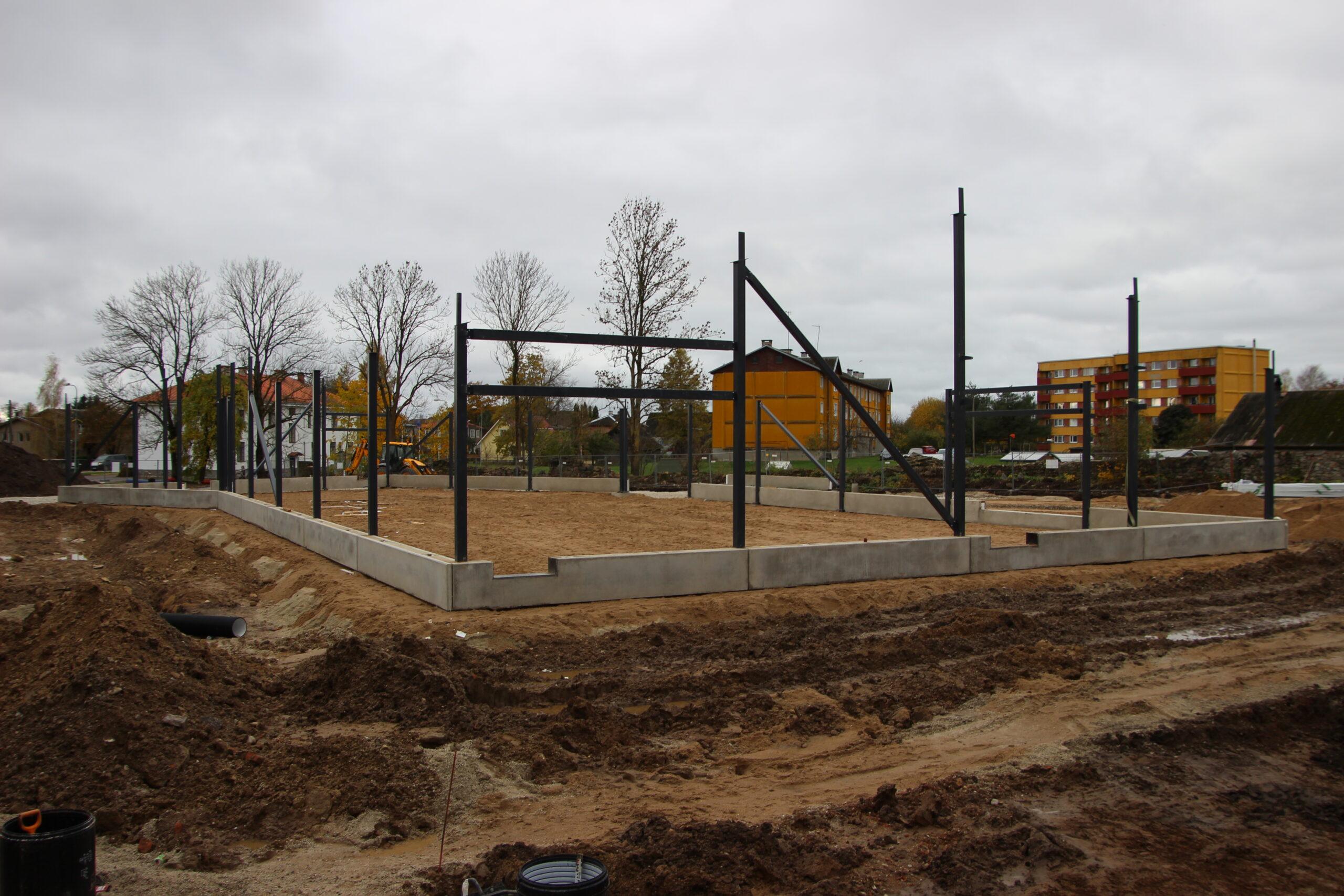 Selline nägi ehitustanner välja 25. oktoobril. Foto raimo Metsamärt.