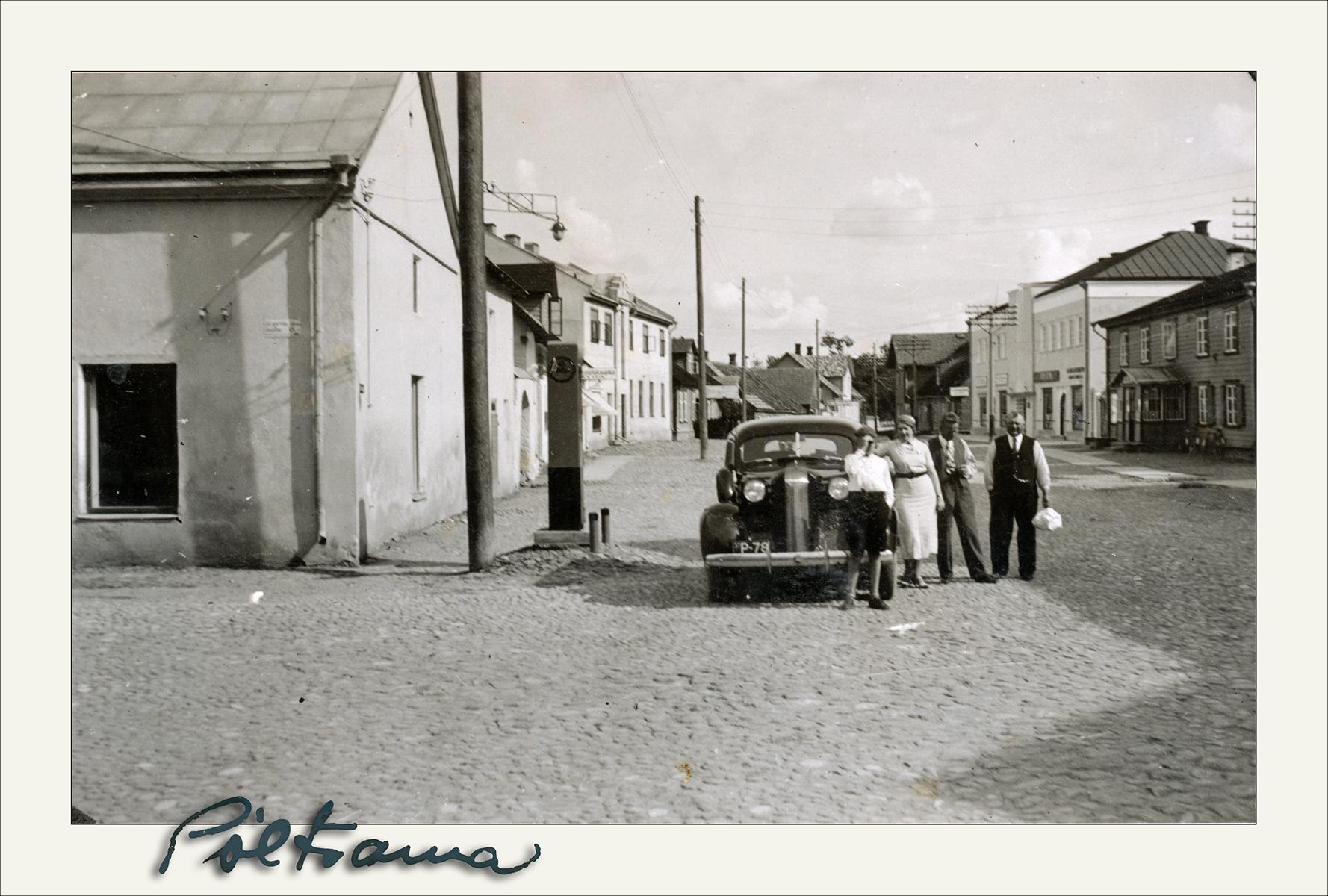 Tankla Lossi tänaval 1930. aastate teisel poolel. Fotograaf teadmata, foto Kalev Kiviste erakogust