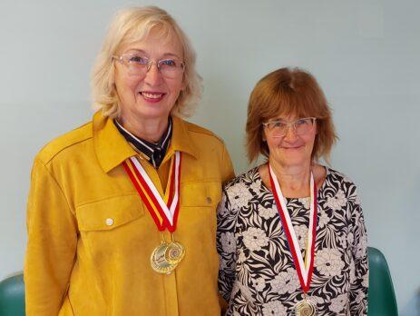 Riina Valdmets ja Maire Haava. Foto Uno Valdmets.