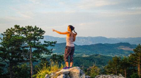 Yana Sloveenias looduse kütkes. Foto erakogu.