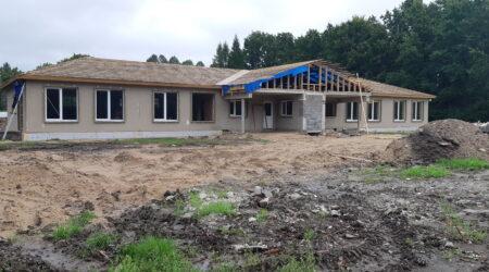 Siilipesa lasteaia ehitustööd peaksid lõppema detsembris 2021. Foto Raimo Metsamärt.