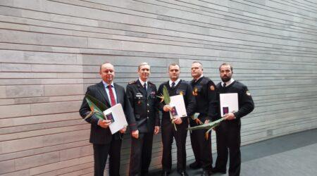 Vasakult Sven Rumvolt, Peeter Randoja, Alar Mölter, Mati Saksniit ja Arbo Koller.